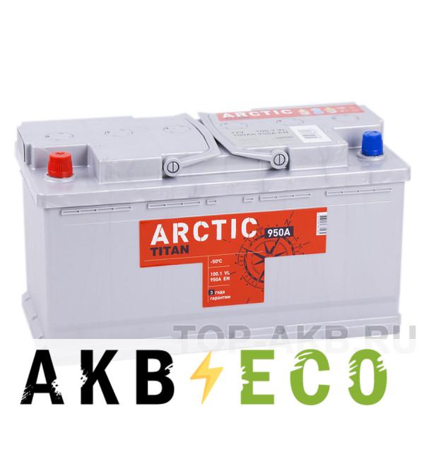 Автомобильный аккумулятор Titan Arctic 100L 950A 353x175x190