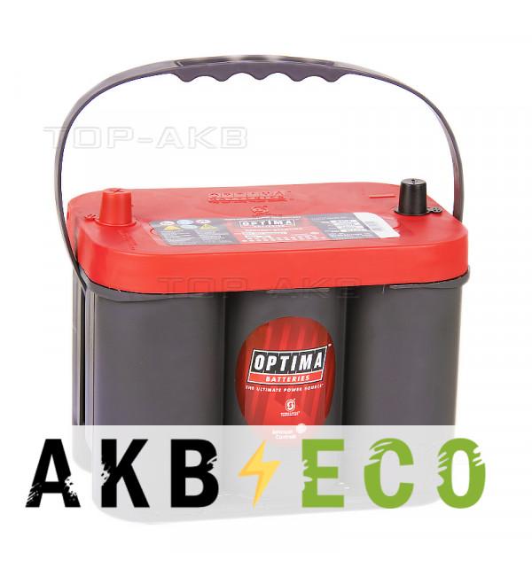 Автомобильный аккумулятор OPTIMA Red Top 50 Ач 815А (254x175x200) RT C 4.2 - 8001-287