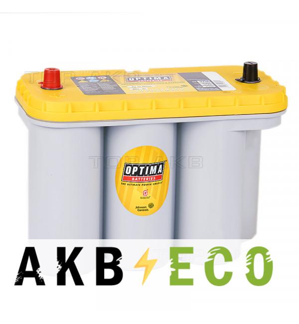 Автомобильный аккумулятор OPTIMA Yellow Top 75 Ач 975А (325x165x238) YT S 5.5 - 8051-187