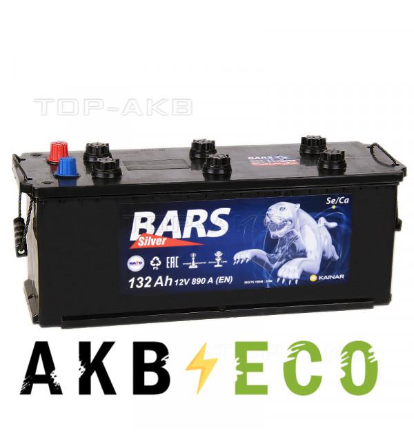 Автомобильный аккумулятор Bars 132 евро 890A 513x182x240