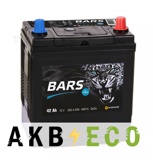Автомобильный аккумулятор Bars Asia 42R 350A (187x127x227)