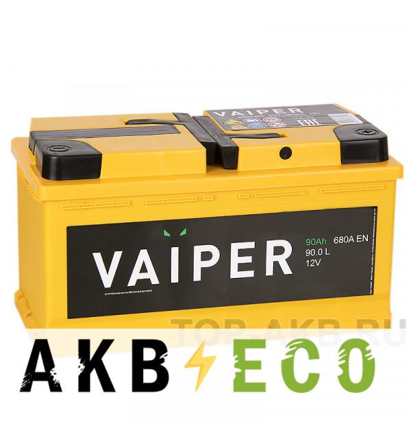 Автомобильный аккумулятор Vaiper 90R 680A 353x175x190