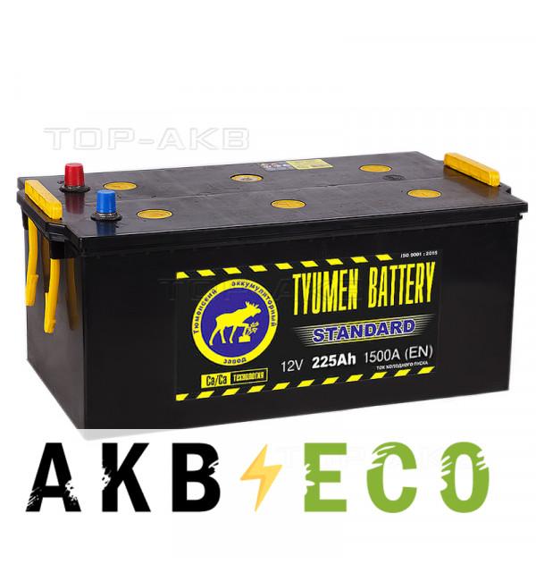 Грузовой аккумулятор Tyumen Battery Standard 225 Ач обр. пол. 1500A (518x278x242)
