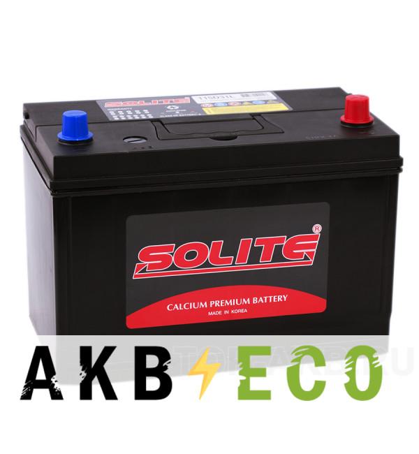 Автомобильный аккумулятор Solite 115D31L с бортиком (95R 750A 301x175x225)