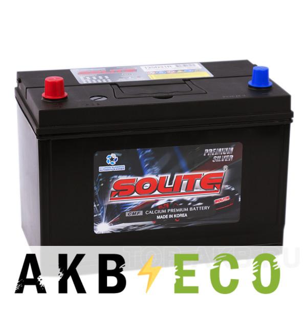 Автомобильный аккумулятор Solite Silver 125D31R с бортиком (110L 850А 301x175x220)