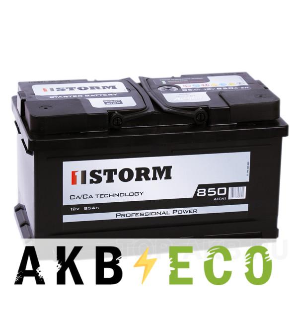 Автомобильный аккумулятор Storm Professional Power 85R низкий 850A 315x175x175