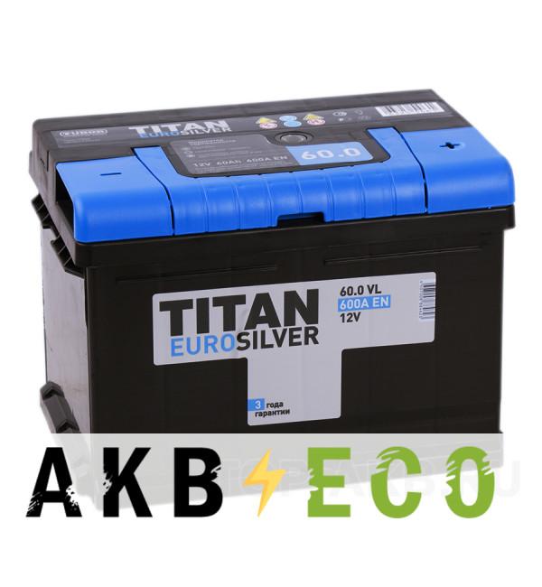 Автомобильный аккумулятор Titan Euro Silver 60R низкий 600A 242x175x175