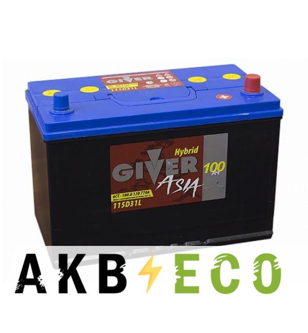 Автомобильный аккумулятор Giver 115D31L (100R 770A 302x172x223)