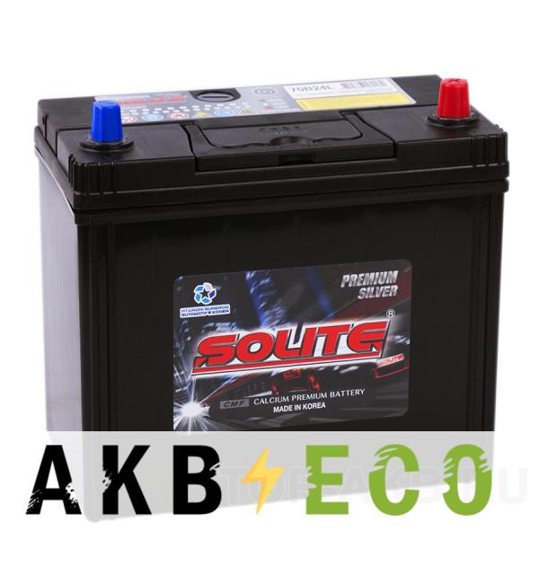 Автомобильный аккумулятор Solite Silver 70B24L (59R 520А 236x128x220)