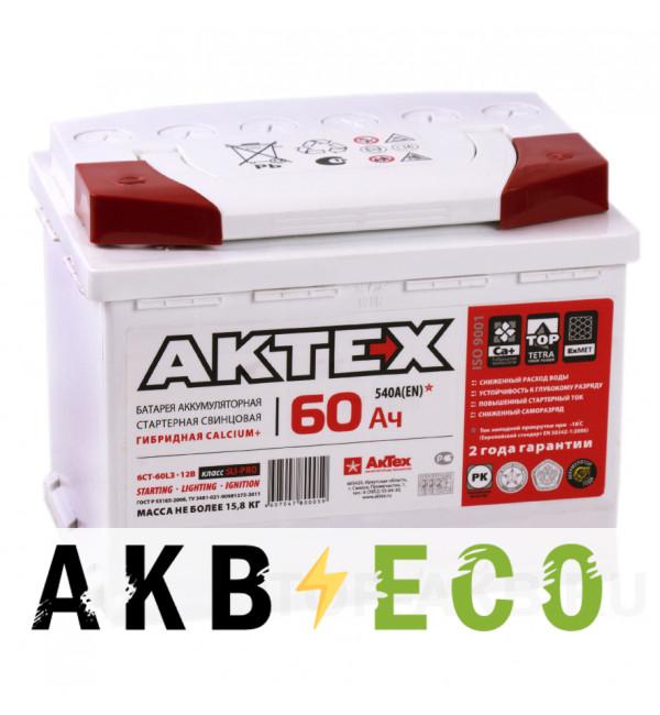 Автомобильный аккумулятор Актех 60R (540A 242x175x190)