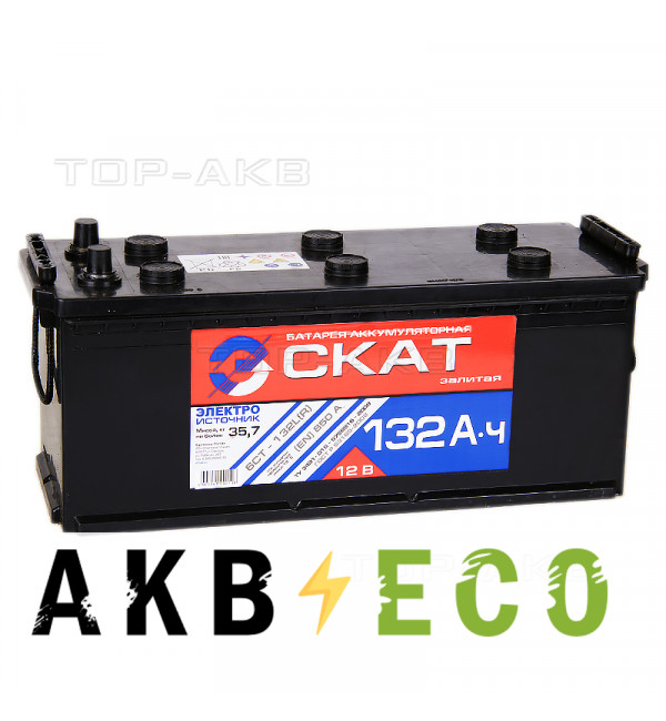 Автомобильный аккумулятор Скат 132 рус 850А (513x189x217)