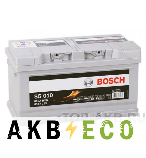 Автомобильный аккумулятор Bosch S5 010 85R 800A 315x175x175
