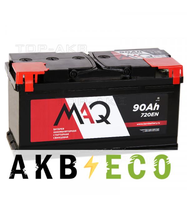 Автомобильный аккумулятор MAQ 90L 720A 353x175x190