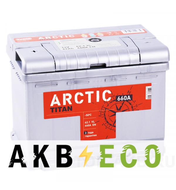 Автомобильный аккумулятор Titan Arctic 62L 660A 242x175x190