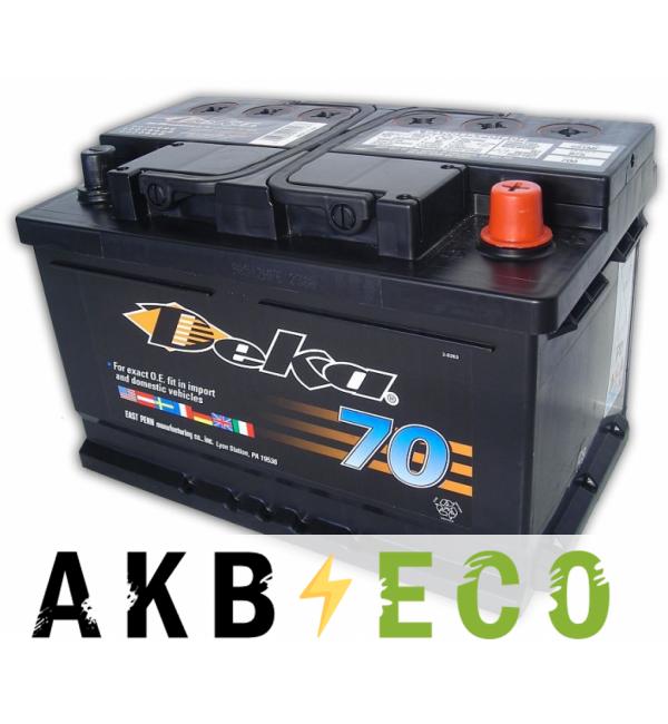 Автомобильный аккумулятор Deka 74R (691MF 700A 278x175x175)