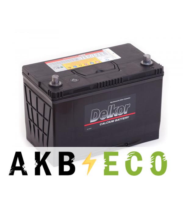Автомобильный аккумулятор Delkor 115D31L (100R 800A 306x173x225)