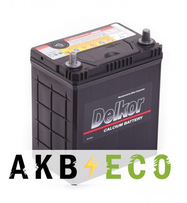 Автомобильный аккумулятор Delkor 46B19L (40R 370A 187x127x227)