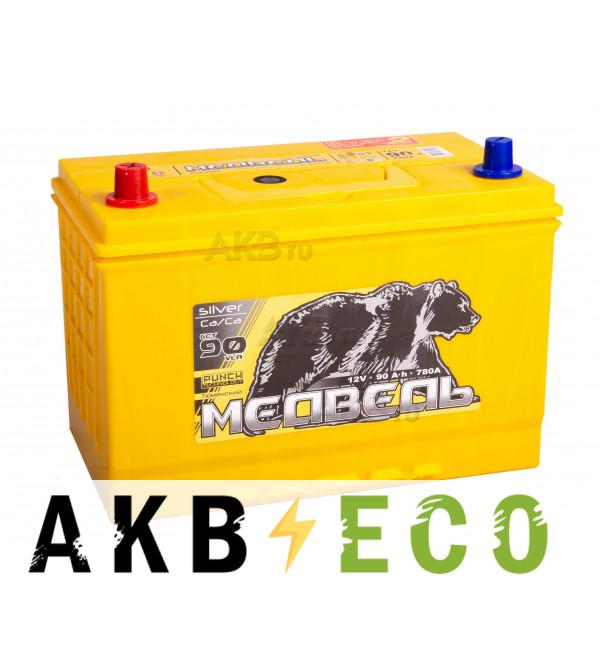 Автомобильный аккумулятор Тюменский медведь Сa/Сa 105D31R 90 Ач прям. пол. 780A (306x173x225) Silver ASIA