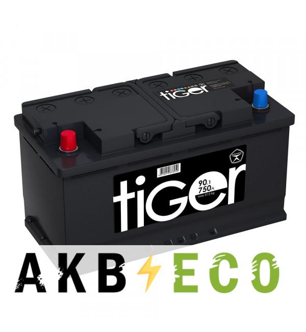 Автомобильный аккумулятор Tiger 90L 750A (353x175x190)