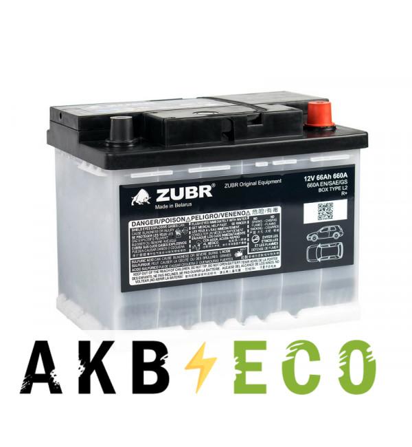 Автомобильный аккумулятор ZUBR OE 66R 660A (242x175x190) VW&Škoda