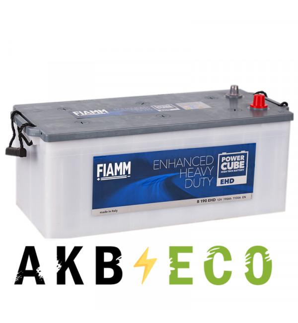 Автомобильный аккумулятор Fiamm Power Cube 190 евро 1100A (513x223x223) Heavy Duty B190EHD
