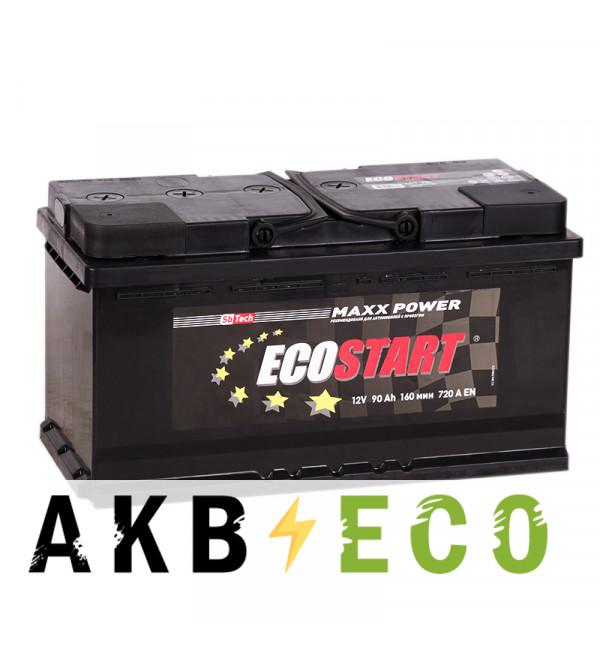 Автомобильный аккумулятор Ecostart 90L (720А 353x175x190)