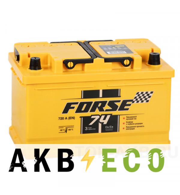 Автомобильный аккумулятор Forse 74R низкий 720A (278x175x175)