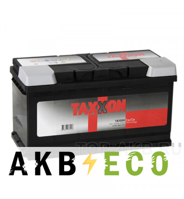Автомобильный аккумулятор Taxxon 100R 800A (353x175x190) 112100, 58822