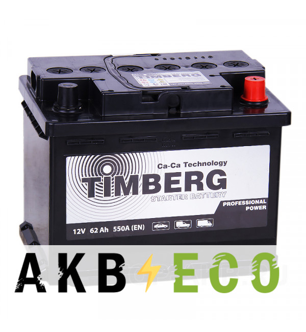 Автомобильный аккумулятор Timberg PRO 62R 550A 242x175x190