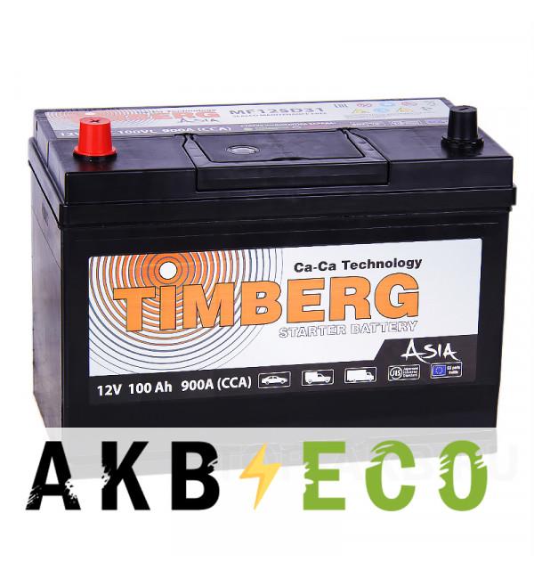 Автомобильный аккумулятор Timberg Asia 125D31R 100L 900A 296x172x220