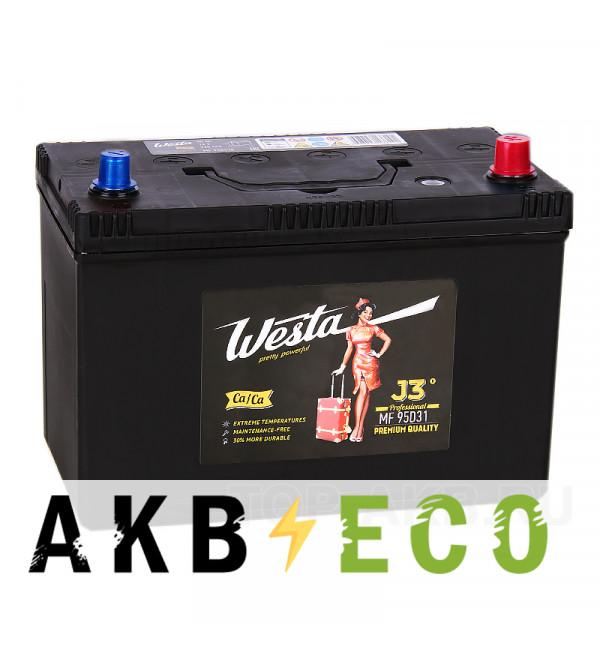 Автомобильный аккумулятор Westa 95D31L (90R 720A 306x173x225)