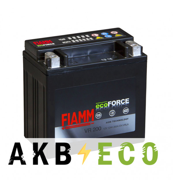 Автомобильный аккумулятор Fiamm Ecoforce AGM для Mercedes Bens 12 Ач 200А (150x87x145) VR200 прямая пол.