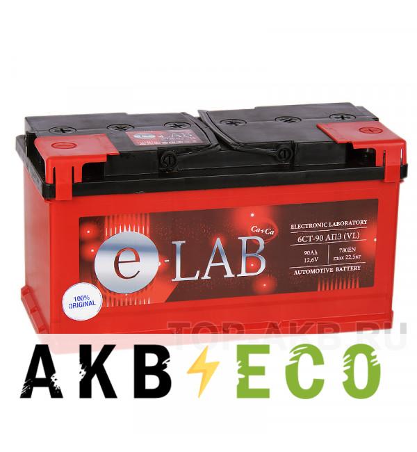 Автомобильный аккумулятор E-LAB 90R 780A (353x175x190)