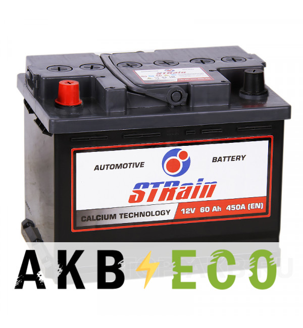 Автомобильный аккумулятор STrain 60L 450A 242x175x190