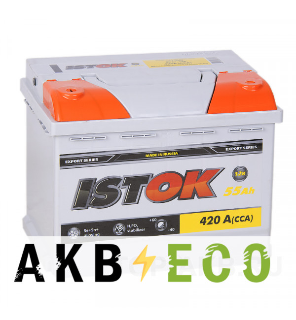 Автомобильный аккумулятор ISTOK 55L 450A (242x175x190)