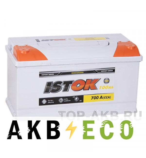 Автомобильный аккумулятор ISTOK 100L 700A (353x175x190)