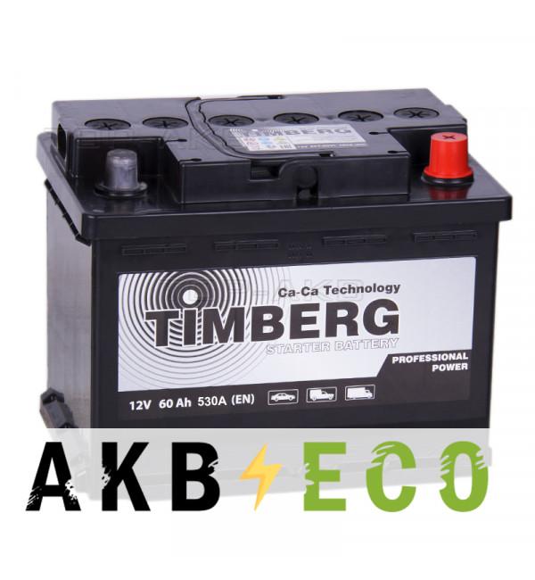 Автомобильный аккумулятор Timberg PRO 60R 530A 242x175x190