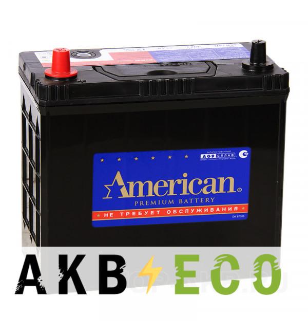 Автомобильный аккумулятор American 65B24R (55L 480A 238x129x227)