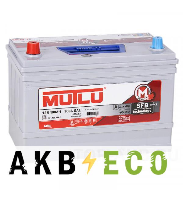 Автомобильный аккумулятор Mutlu Mega Calcium 115D31FR SFB M3 100L прямая пол. 850A (306x175x225) с бортиком