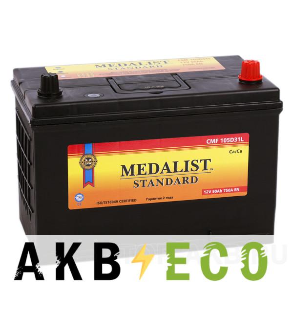 Автомобильный аккумулятор Medalist Standard 105D31L (90R 750A 300х172х223)