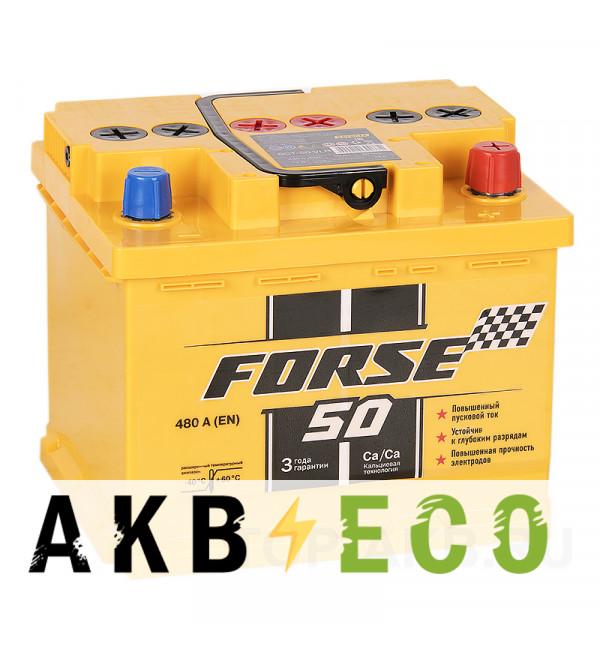 Автомобильный аккумулятор Forse 50R низкий 480A (207x175x175)