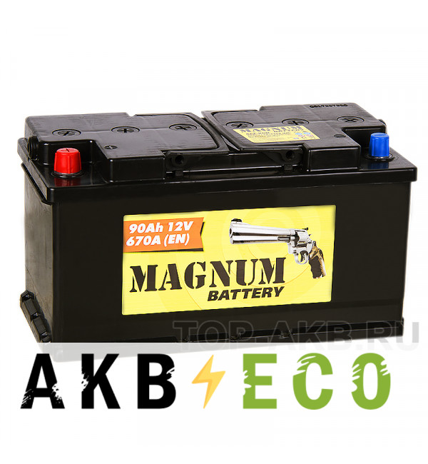 Автомобильный аккумулятор Magnum 90L 670A 353x175x190