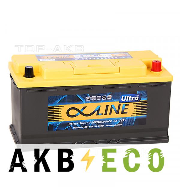 Автомобильный аккумулятор Alphaline Ultra 110R 1000A (393x175x190) 61000