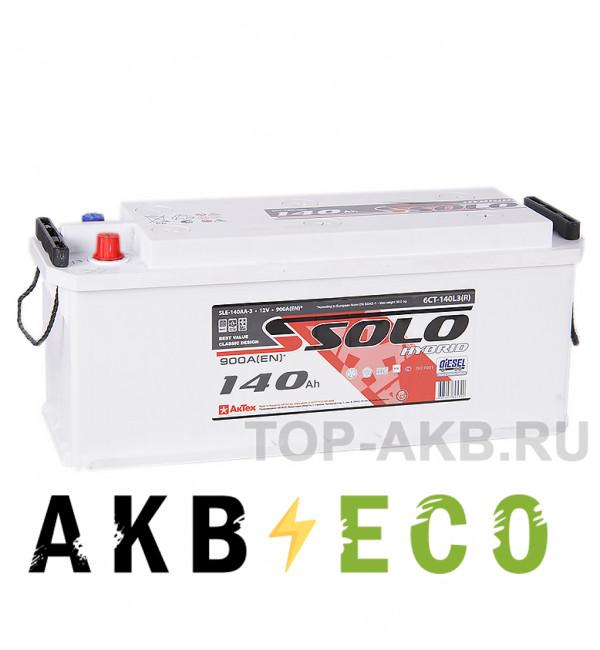 Автомобильный аккумулятор SOLO 140 рус (900A 514х175х210)