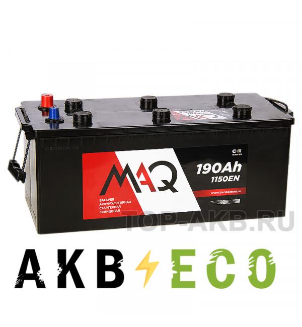 Грузовой аккумулятор MAQ 190 евро 1150A 513x223x223