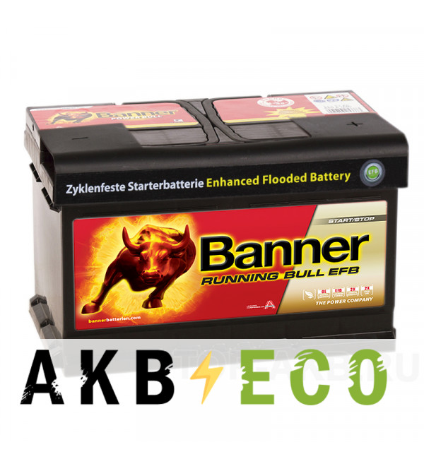 Автомобильный аккумулятор Banner Running Bull EFB Start-Stop (565 12) 65R 660A 278х175х175