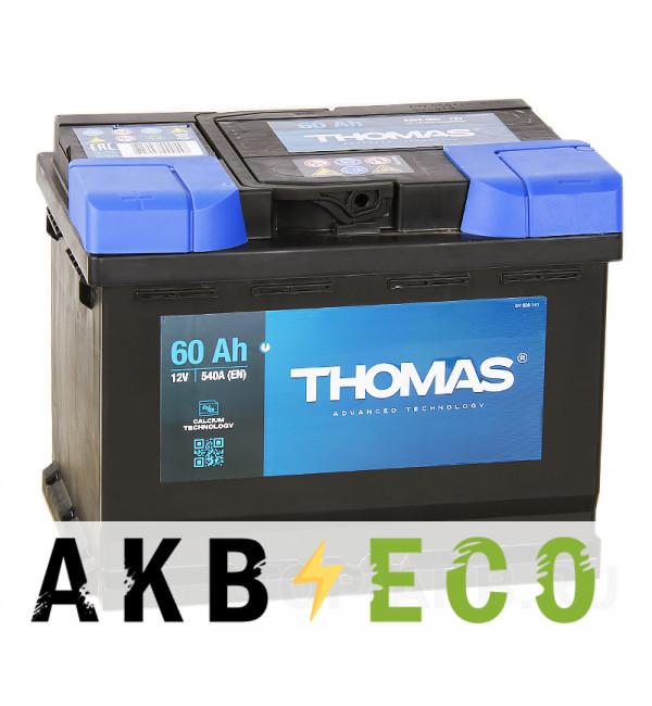 Автомобильный аккумулятор Thomas 60L 540A 242x175x190