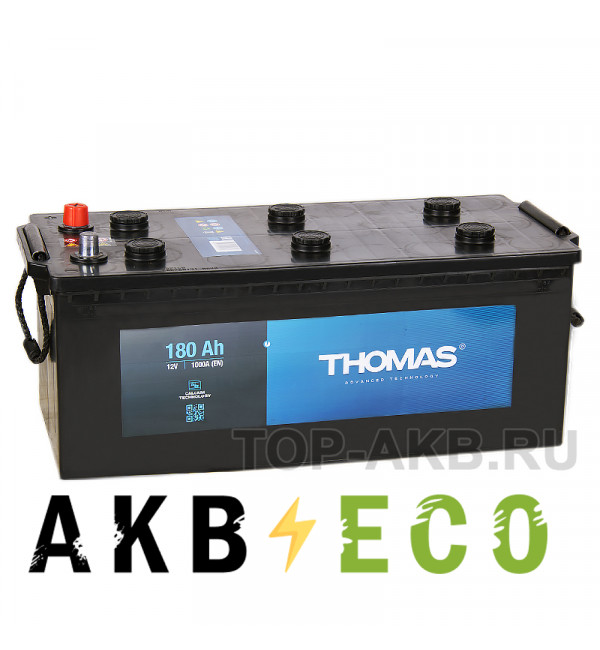 Автомобильный аккумулятор Thomas 180 евро 1000A (513x223x223)