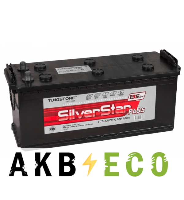 Автомобильный аккумулятор Silverstar Plus 135 евро 900A 516x223x223