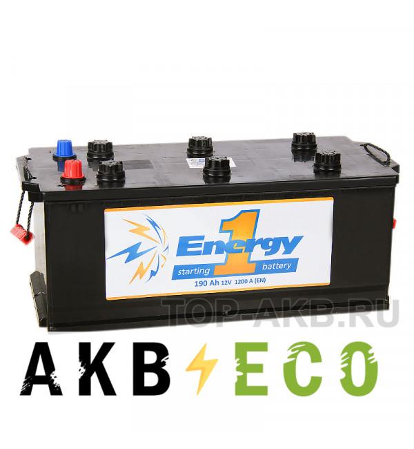 Автомобильный аккумулятор Energy ONE 190 Ач рус 1200А 516x223x223